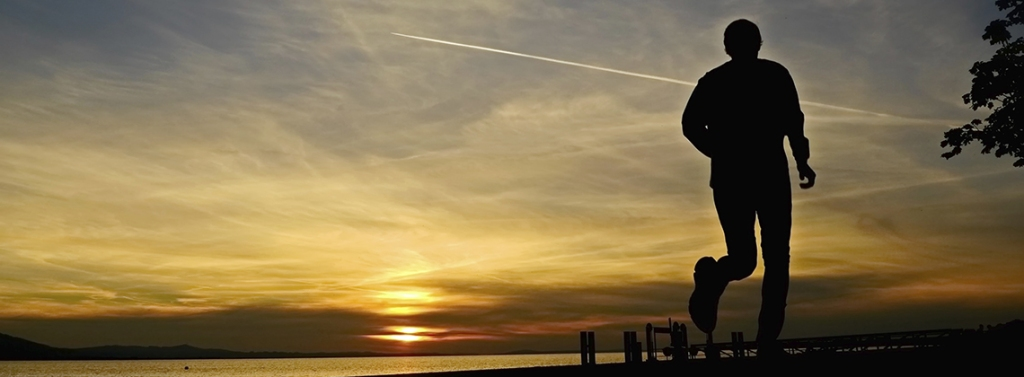 Jogger in Sunrise