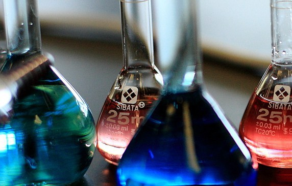 Beakers Full of Liquid